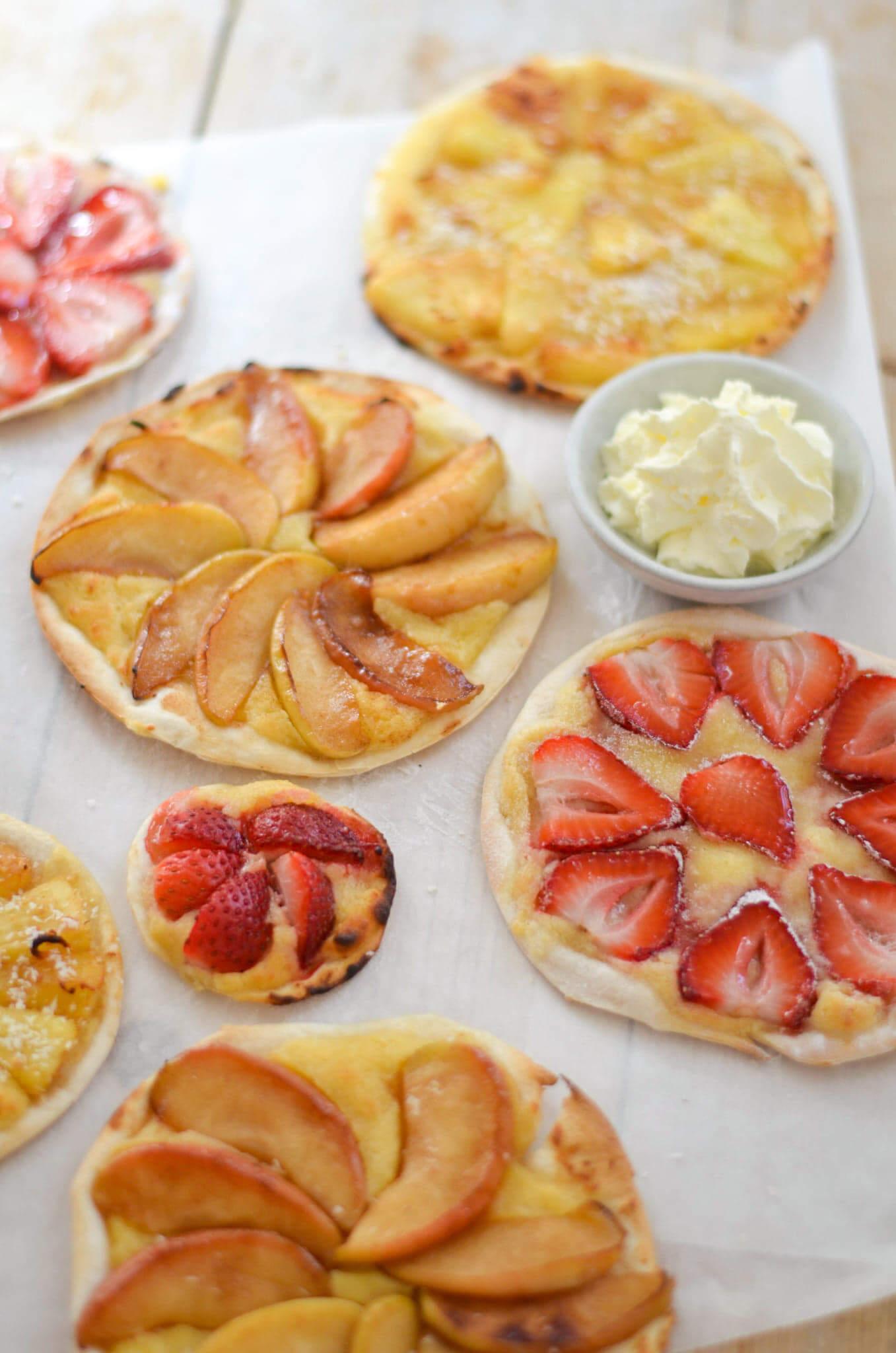 Makkelijke fruittaartjes met frangipane