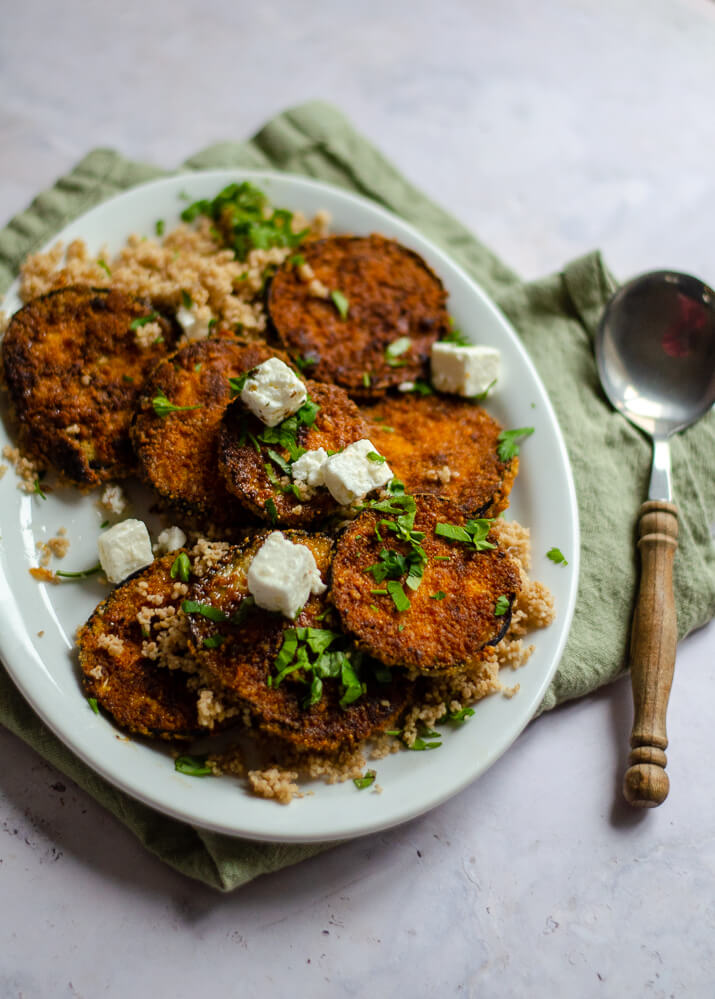 glutenvrije aubergine fritters