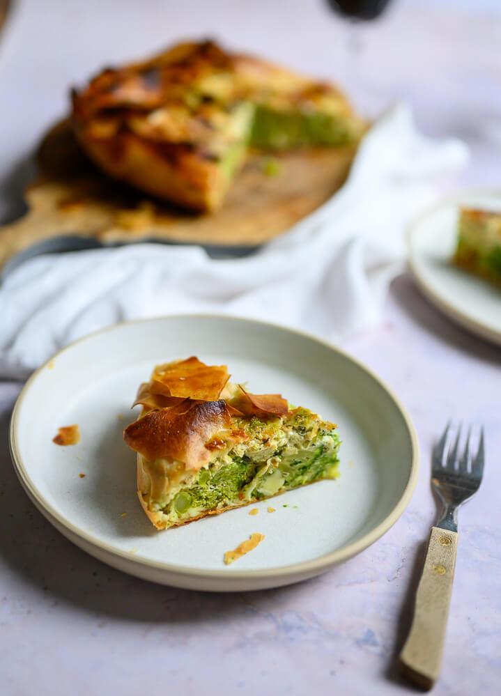 Broccoli filodeegtaart met 3 kazen