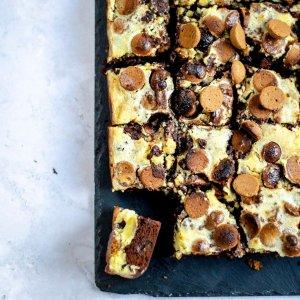 cheesecake brownie met kruidnoten