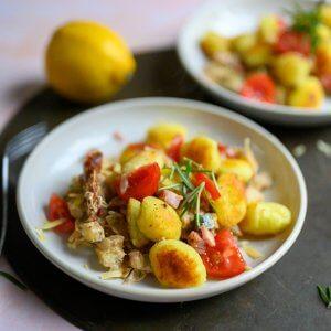 gebakken gnocchi met roomkaas
