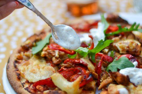 Kip shoarma pizza