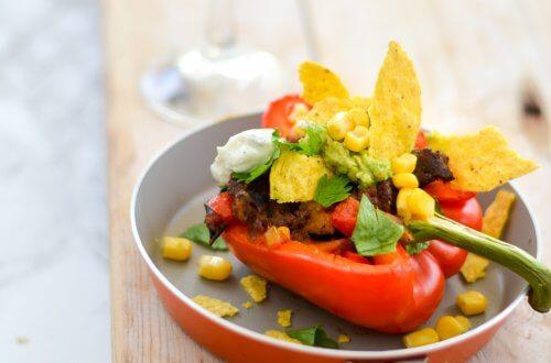 Mexicaans gevulde paprika