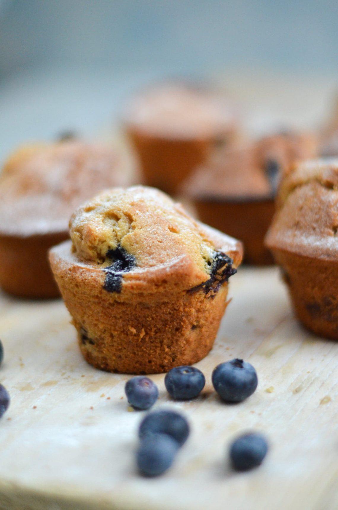 muffins met blauwe bessen